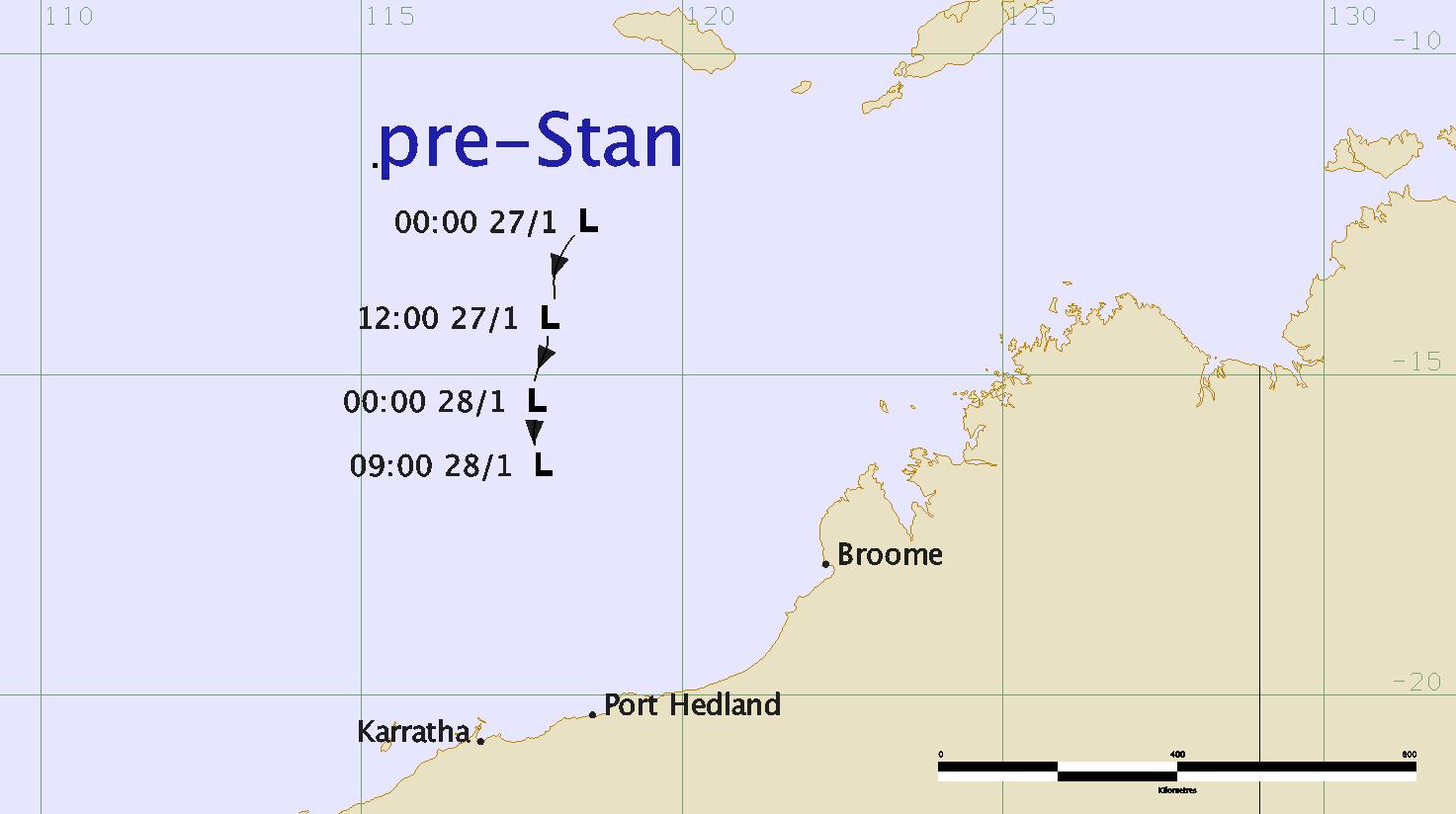 Track of pre-Stan